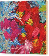 Floral Abstract Part 3 Wood Print