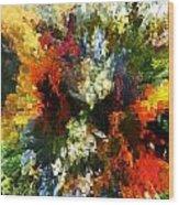 Floral Art Xiv Wood Print