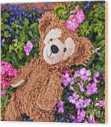 Floral Bear Wood Print