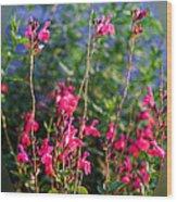 Floral Cameo Wood Print