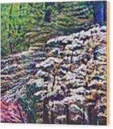 Floral Cathedral Wood Print