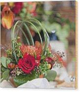 Floral Centerpiece Wood Print