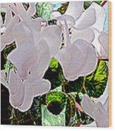 Floral Clouds Wood Print