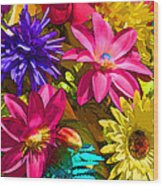 Floral Colors 1 Wood Print