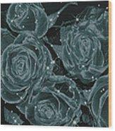 Floral Constellations Wood Print