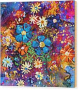 Floral Dance Fantasy Wood Print