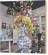 Floral Decor Wood Print