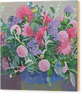 Floral Display Wood Print