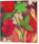 Floral Escapade  Wood Print