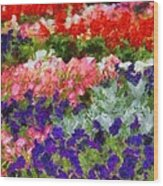 Floral Fantasy Wood Print by Dan Sproul