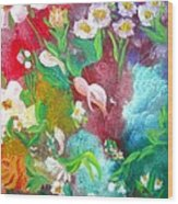 Floral Fantasy Wood Print