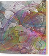 Floral Fantasy - Square Version Wood Print