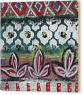 Floral Fiesta- Colorful Pattern Painting Wood Print