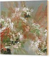 Floral Fractal 030713 Wood Print