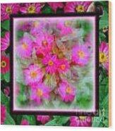 Floral Framework Wood Print