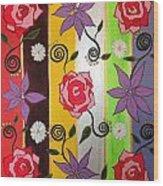 Floral Frenzy Wood Print