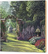 Floral Garden Wood Print