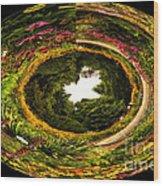 Floral Garden Polar View  02 Wood Print