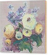 Floral I Wood Print