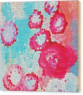 Floral IIi Wood Print by Patricia Awapara