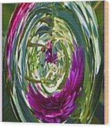 Floral Illusion 1 Wood Print