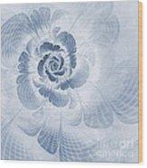Floral Impression Cyanotype Wood Print