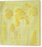 Floral In Yellow Wood Print