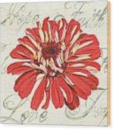 Floral Inspiration 1 Wood Print