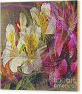 Floral Inspiration - Square Version Wood Print
