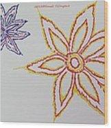 Floral Joy  Wood Print