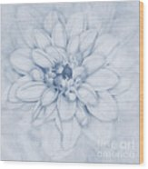 Floral Layers Cyanotype Wood Print