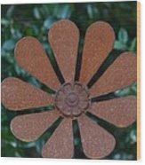 Floral Metal Art Wood Print