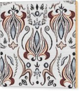 Floral Pattern I Wood Print