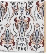 Floral Pattern II Wood Print