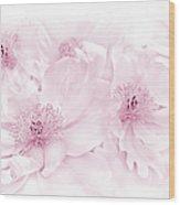 Floral Peonies In Pink Wood Print