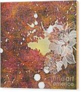Floral Print Wood Print by Ankeeta Bansal