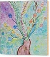 Floral Stream Wood Print