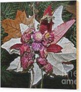 Floral Tree Ornament Wood Print