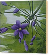 Floral Triptych 3. Wood Print