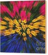 Floral Triple Zoom Wood Print