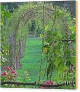 Floral Window Wood Print