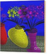 Floral Wonders Wood Print