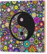 Floral Yin Yang Wood Print