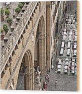 Florence And Piazza Della Signoria Wood Print