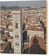 Florence From The Top Of Brunelleschi's Dome Wood Print