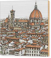 Florence In Colour Wood Print