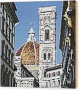 Florence Italy Santa Maria Fiori Duomo Wood Print