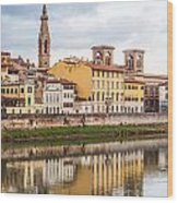 Florence Reflection Wood Print