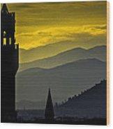 Florence Sunset Wood Print