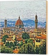 Florence Watercolor Wood Print